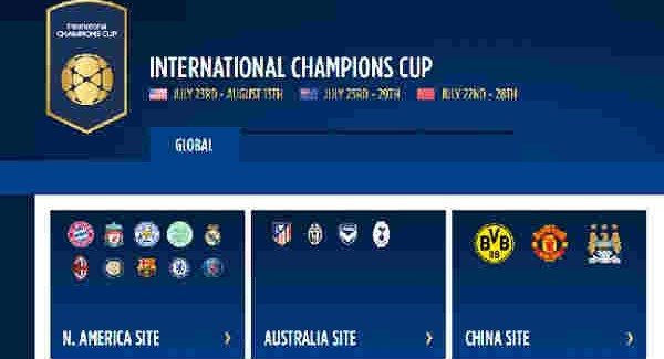 jadwal international champions cup 2016